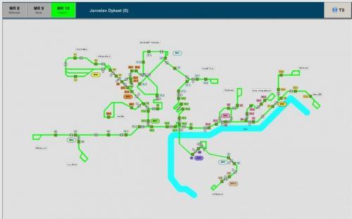 Schéma trakční sítě