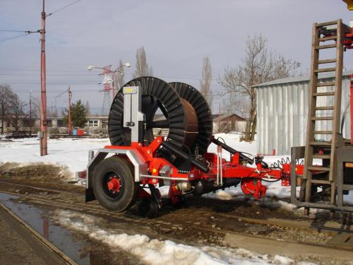 Aplikace kolejového adaptéru návěsný vozík