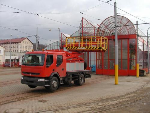 Pracovní plošina s adaptérem - DP Liberec